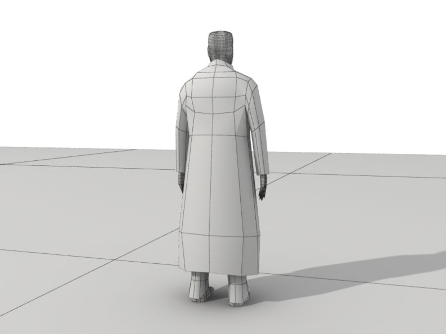 Humains Low Poly (mâles) royalty-free 3d model - Preview no. 25