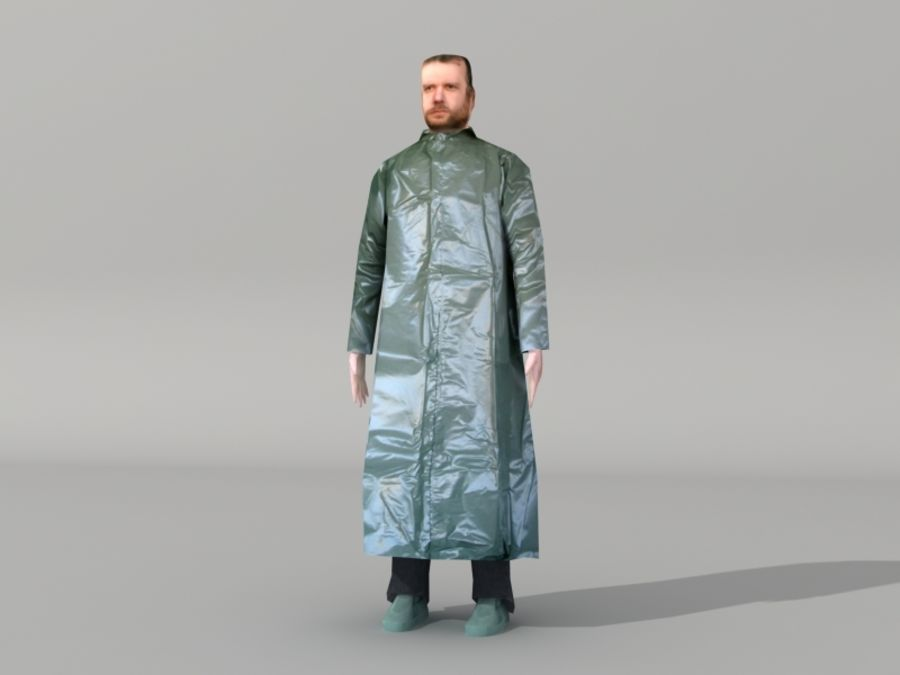 Humains Low Poly (mâles) royalty-free 3d model - Preview no. 14