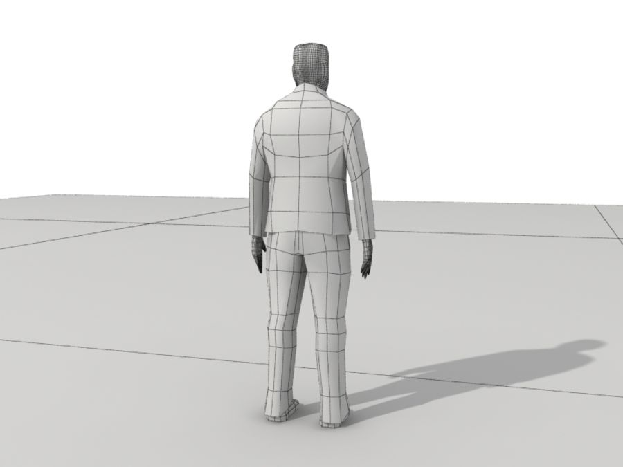 Humains Low Poly (mâles) royalty-free 3d model - Preview no. 23