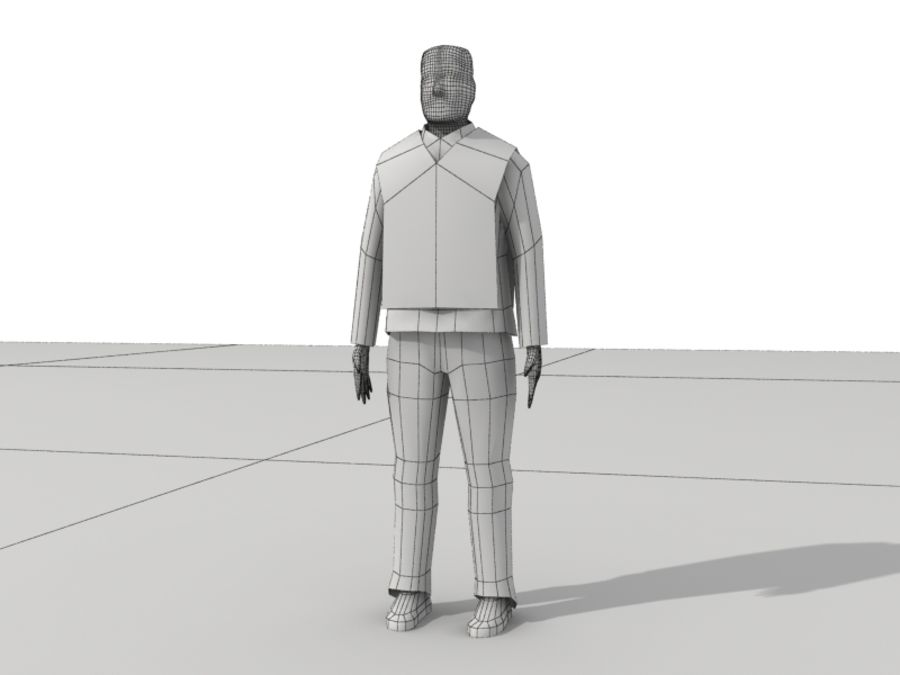 Humains Low Poly (mâles) royalty-free 3d model - Preview no. 26