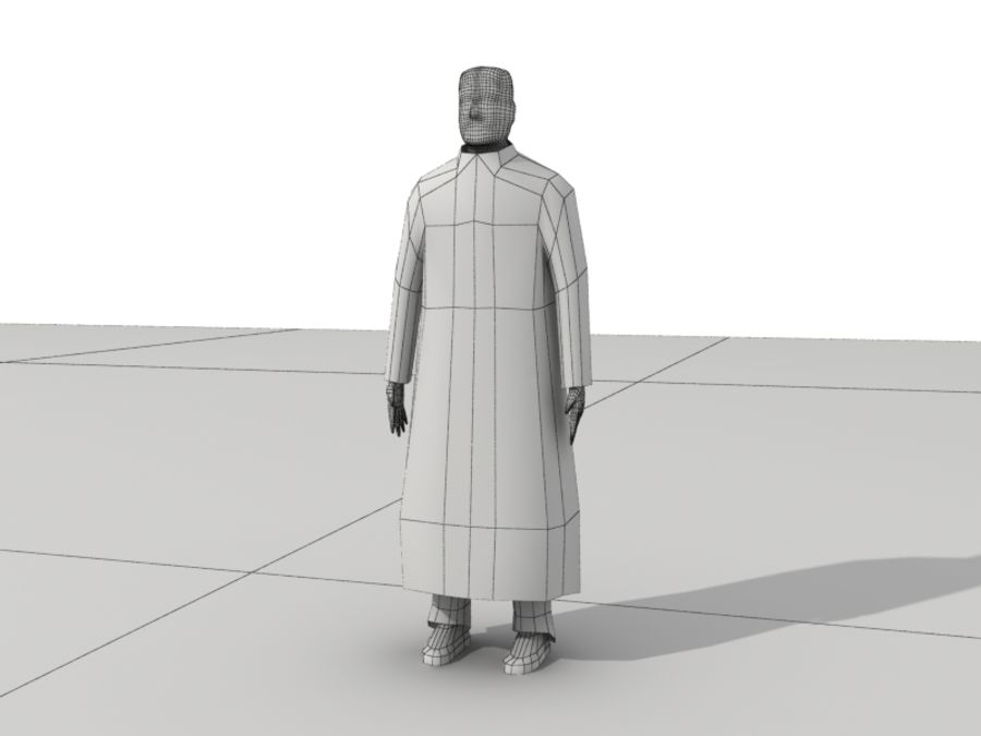Humains Low Poly (mâles) royalty-free 3d model - Preview no. 24