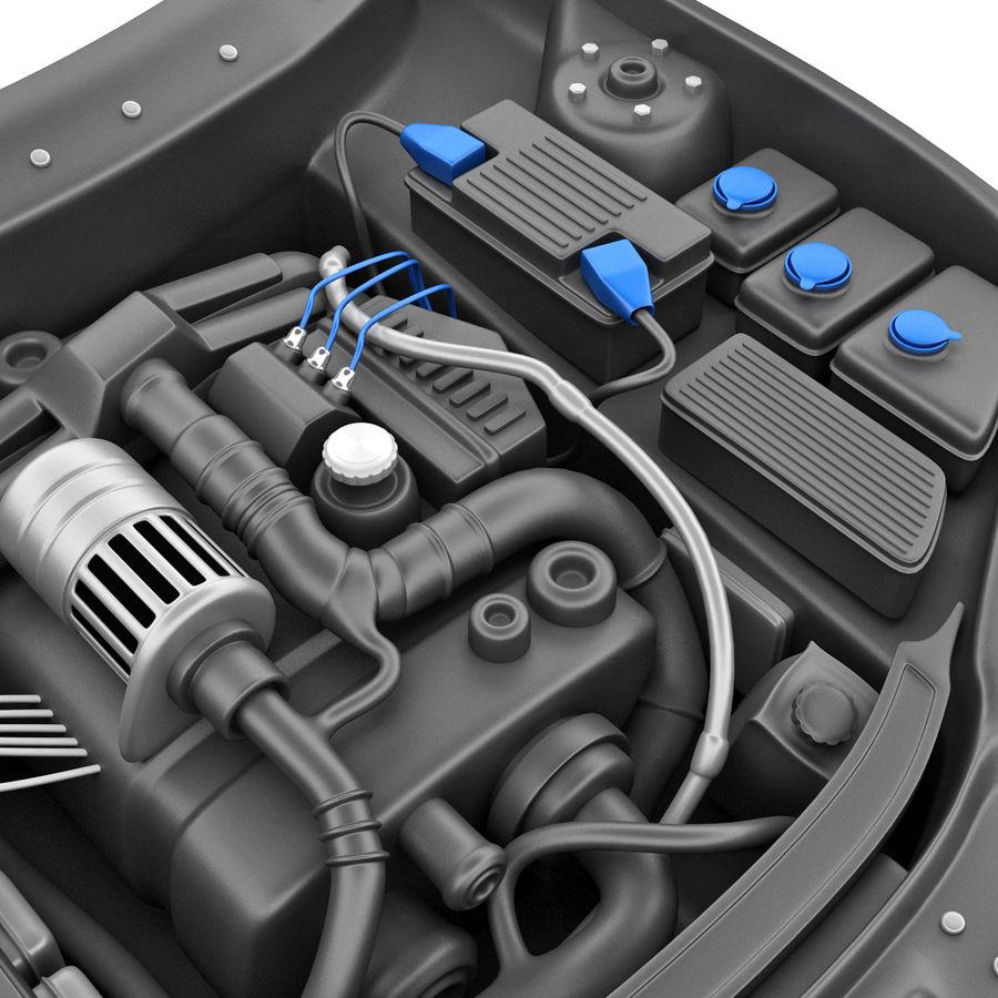 Subaru Araba Motoru royalty-free 3d model - Preview no. 9
