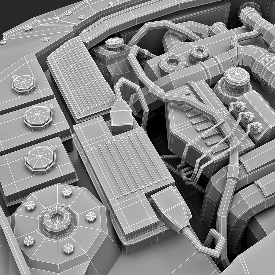 Subaru Araba Motoru royalty-free 3d model - Preview no. 22