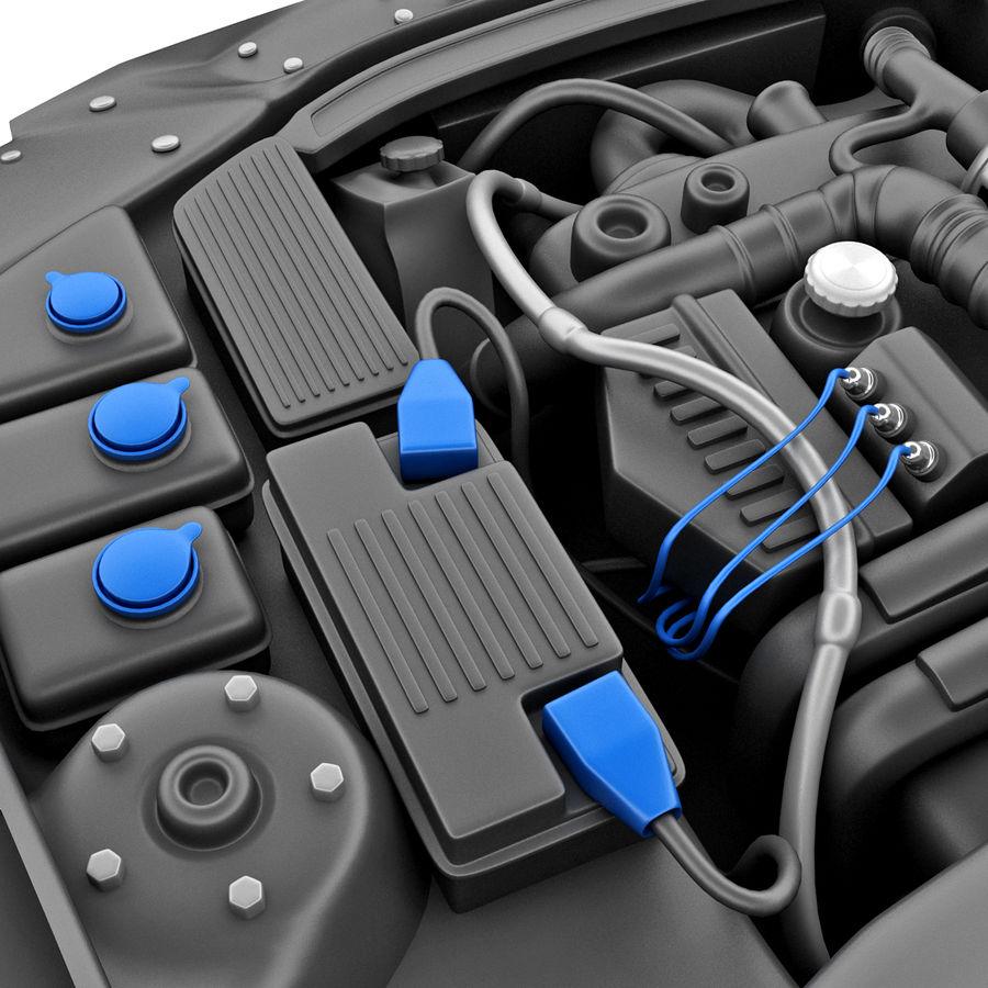 Subaru Araba Motoru royalty-free 3d model - Preview no. 11