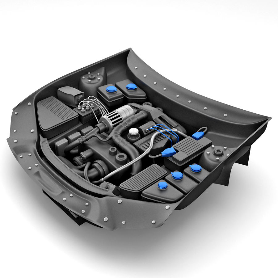 Subaru Araba Motoru royalty-free 3d model - Preview no. 2