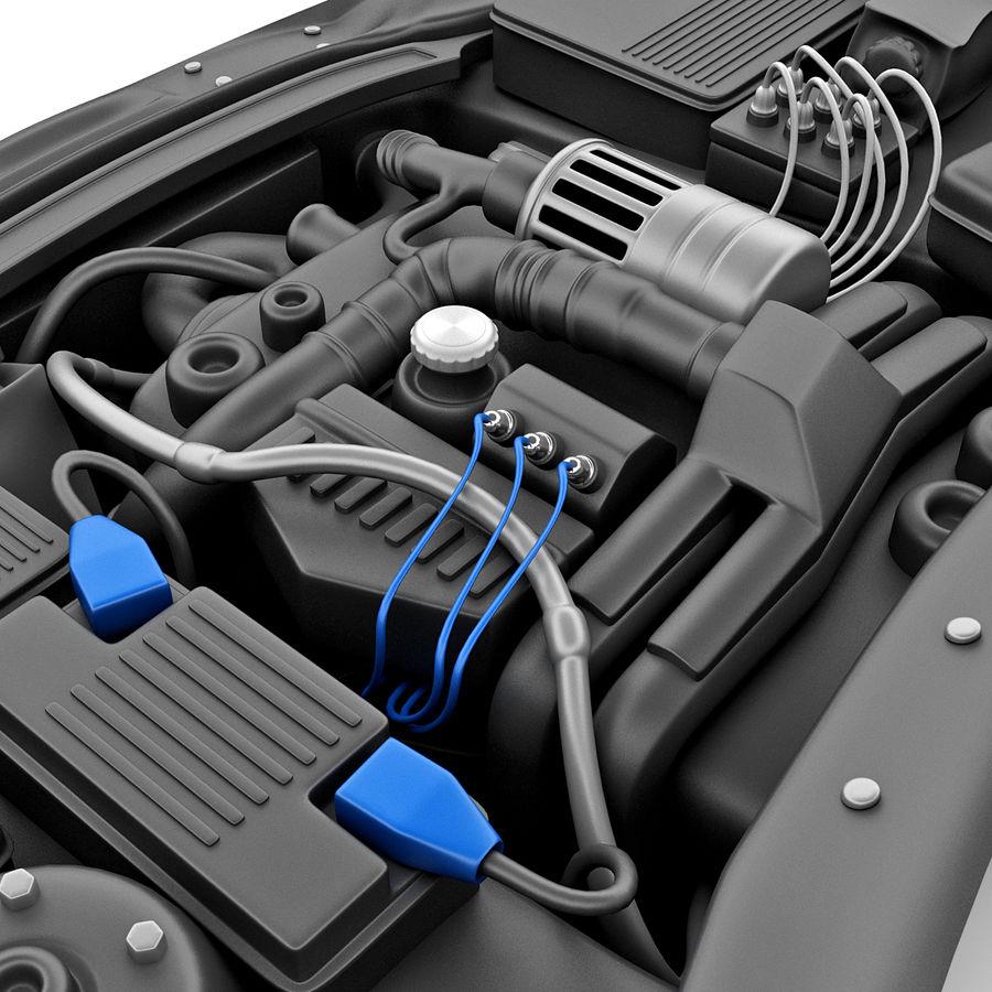 Subaru Araba Motoru royalty-free 3d model - Preview no. 10