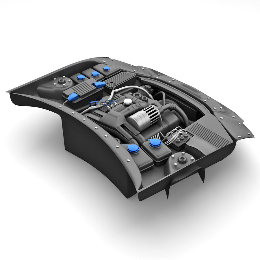 Subaru Araba Motoru royalty-free 3d model - Preview no. 3