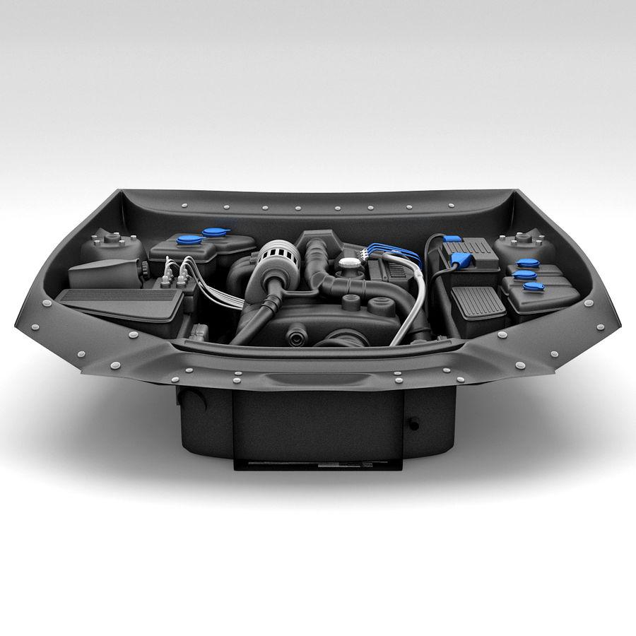 Subaru Araba Motoru royalty-free 3d model - Preview no. 5