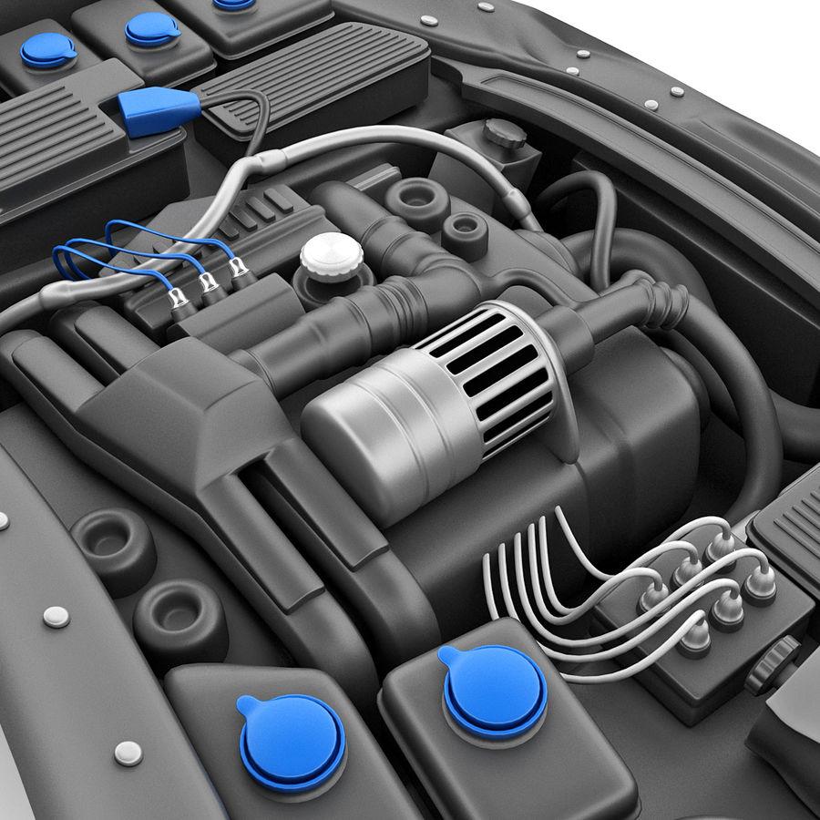 Subaru Araba Motoru royalty-free 3d model - Preview no. 12