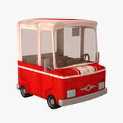 卡通卡车MP 3d model