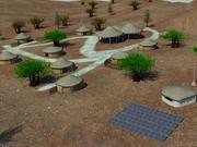 Village huts 3d model