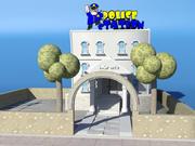トゥーン警察署 3d model
