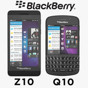 Coleção Blackberry Q10 e Blackberry Z10 Smartphone 3d model