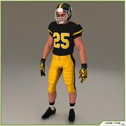 Jugador de fútbol americano blanco CG modelo 3d