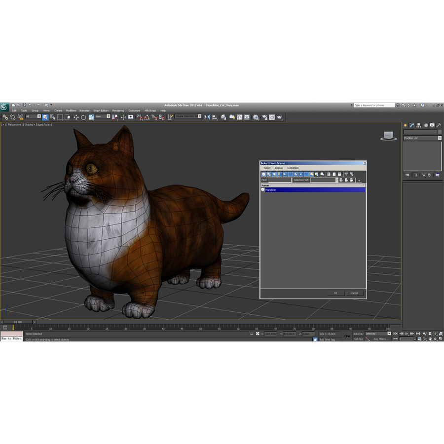 Munchkin Cat royalty-free 3d model - Preview no. 22