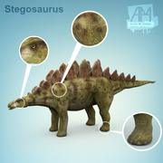 剑龙恐龙 3d model