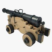 Field cannon 03 3d model
