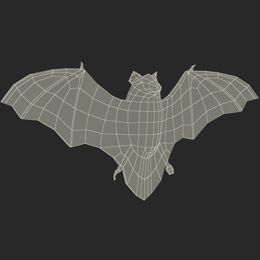 Bat royalty-free 3d model - Preview no. 13