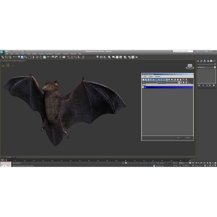 Bat royalty-free 3d model - Preview no. 12