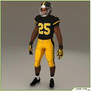 Black American Football Player CG 3d model