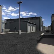 Armazém Industrial Park 3d model