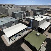Parc industriel d'entrepôt 3d model
