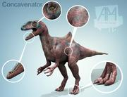 concavenator dinosaurs animal 3d model