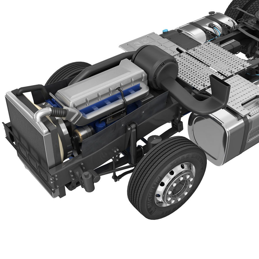 Truck Chassis royalty-free 3d model - Preview no. 7