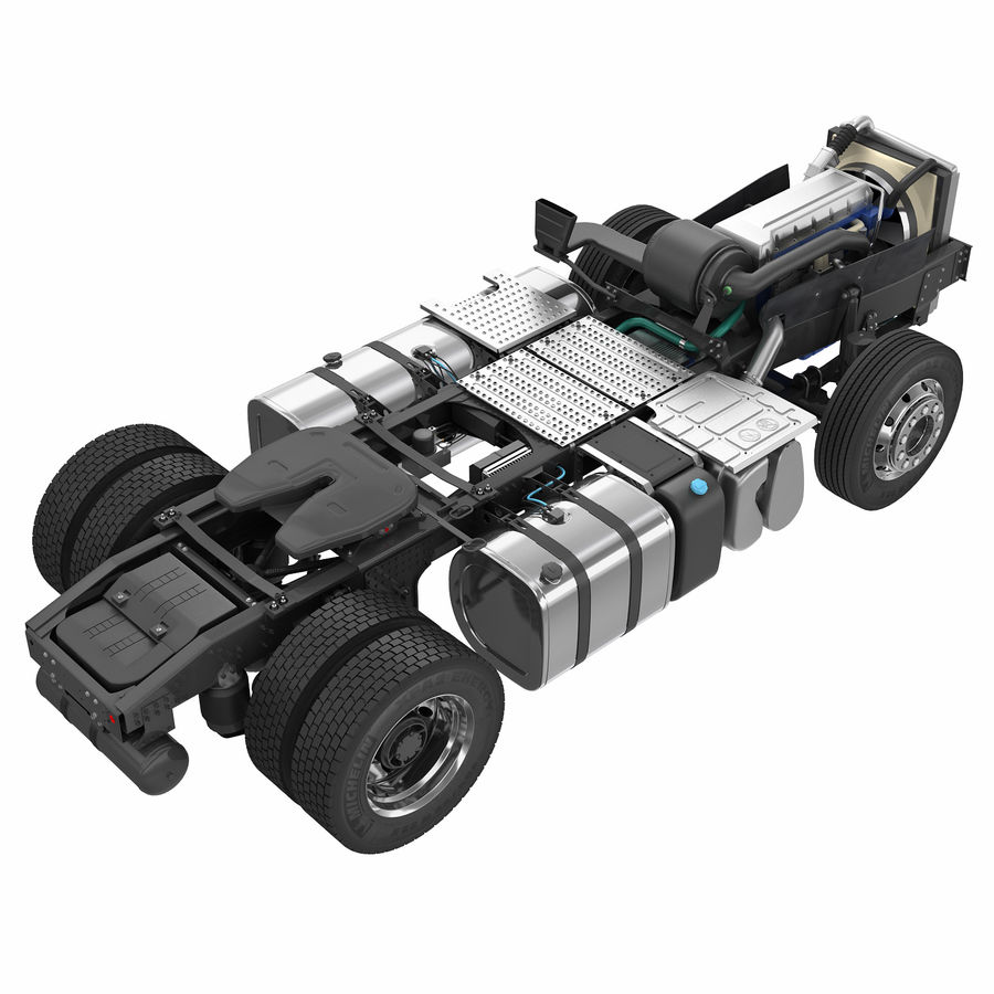 Truck Chassis royalty-free 3d model - Preview no. 2