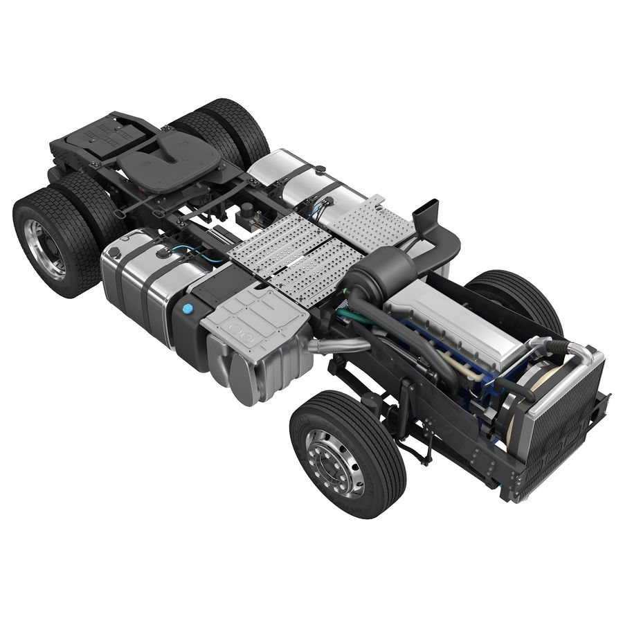 Truck Chassis royalty-free 3d model - Preview no. 1