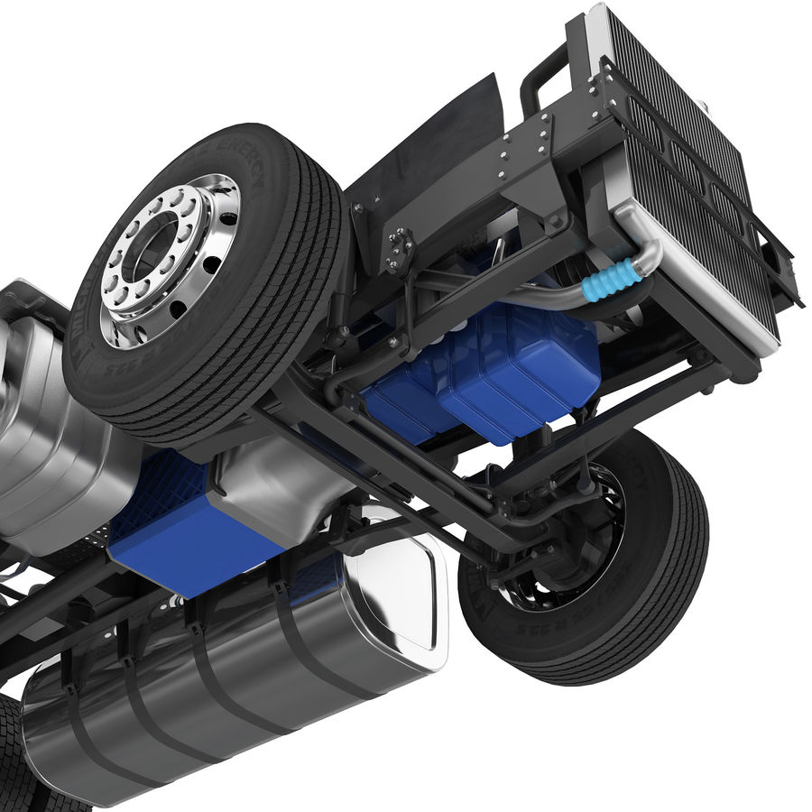 Truck Chassis royalty-free 3d model - Preview no. 5