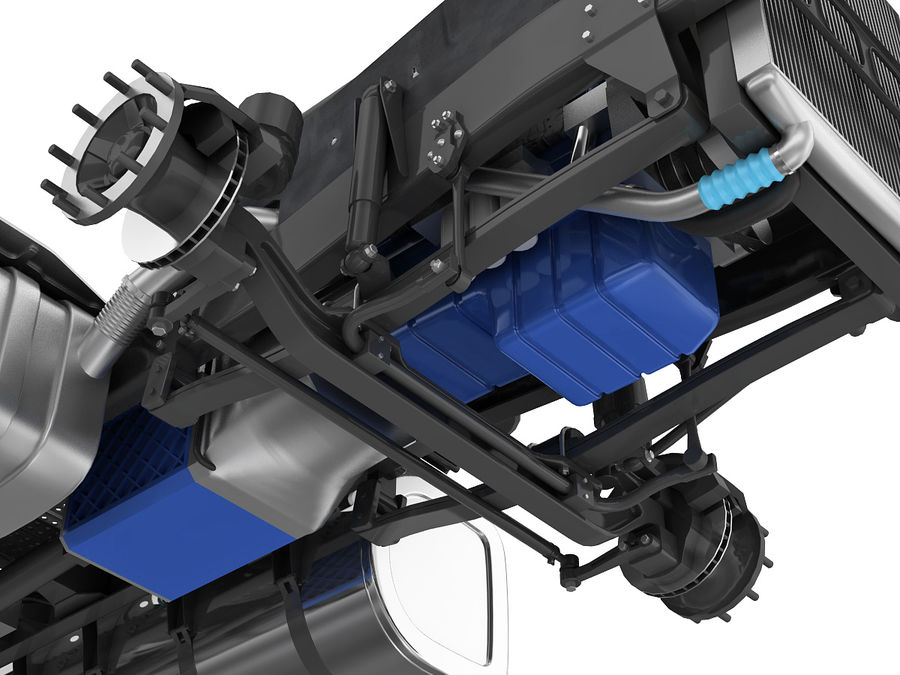 Truck Chassis royalty-free 3d model - Preview no. 8