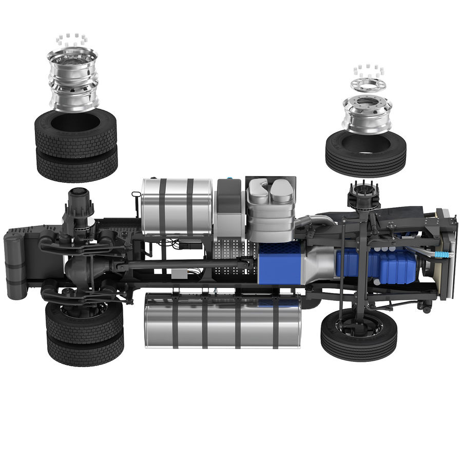 Truck Chassis royalty-free 3d model - Preview no. 14