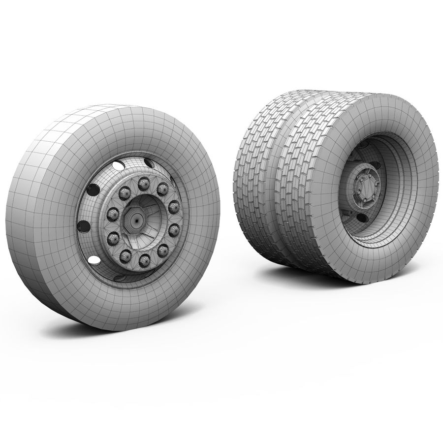Truck Chassis royalty-free 3d model - Preview no. 21