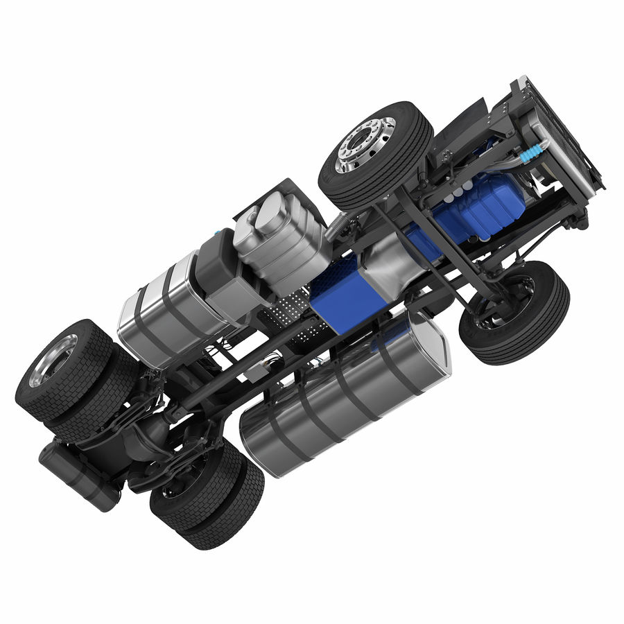 Truck Chassis royalty-free 3d model - Preview no. 3
