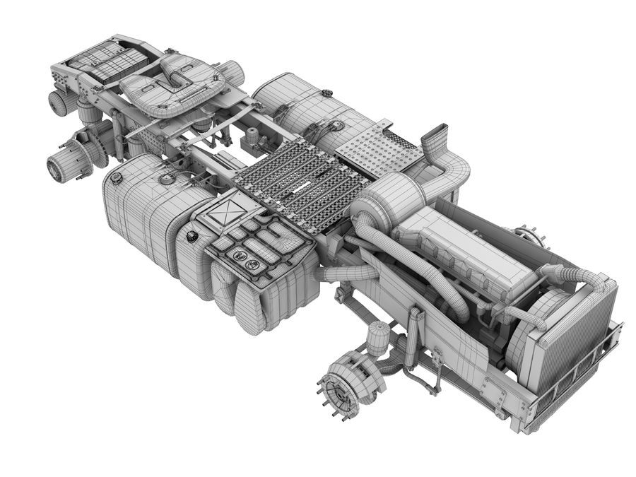 Truck Chassis royalty-free 3d model - Preview no. 20