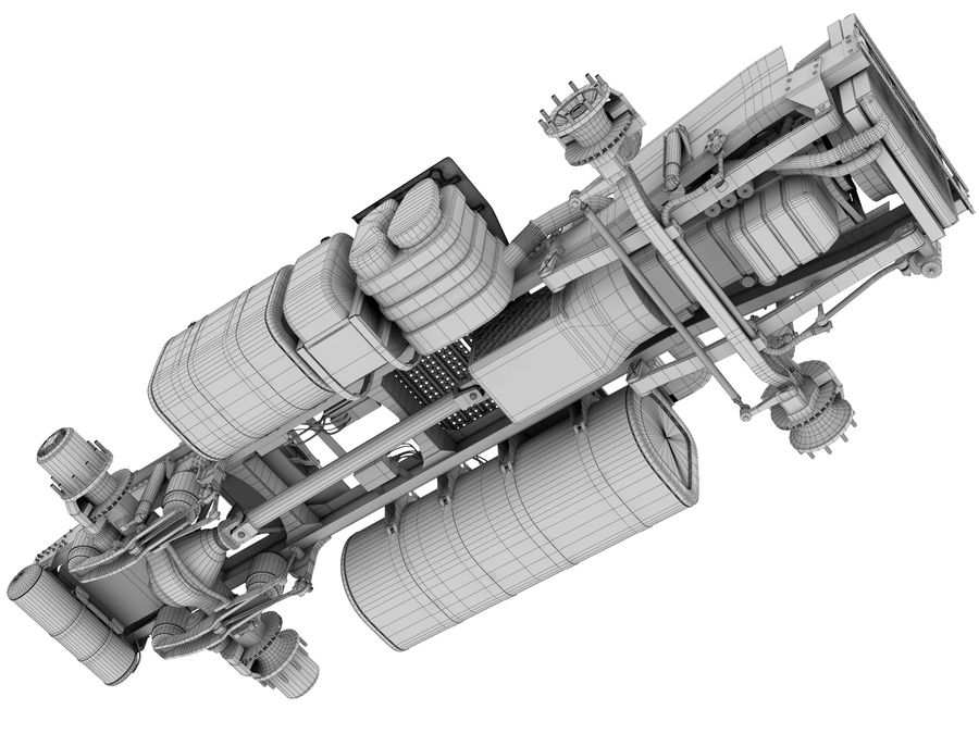 Truck Chassis royalty-free 3d model - Preview no. 19
