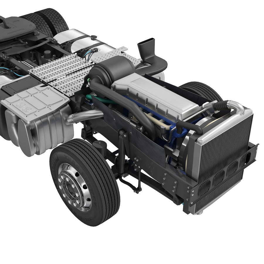 Truck Chassis royalty-free 3d model - Preview no. 6