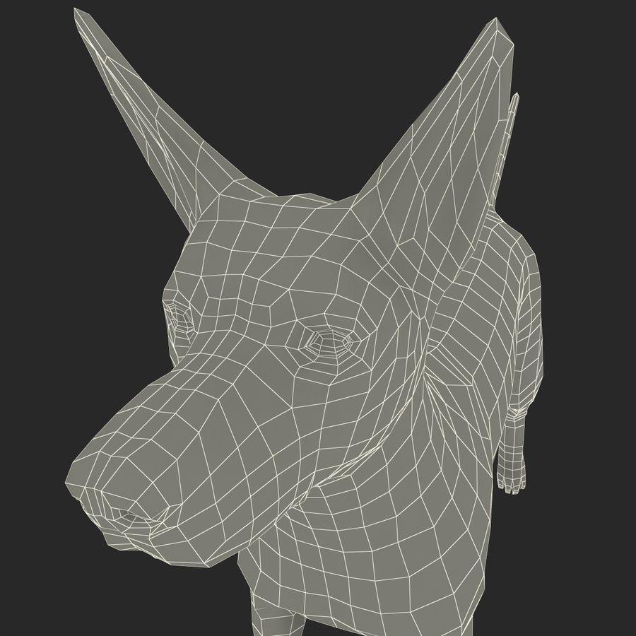 Meksikalı Tüysüz Köpek Xoloitzcuintli royalty-free 3d model - Preview no. 17