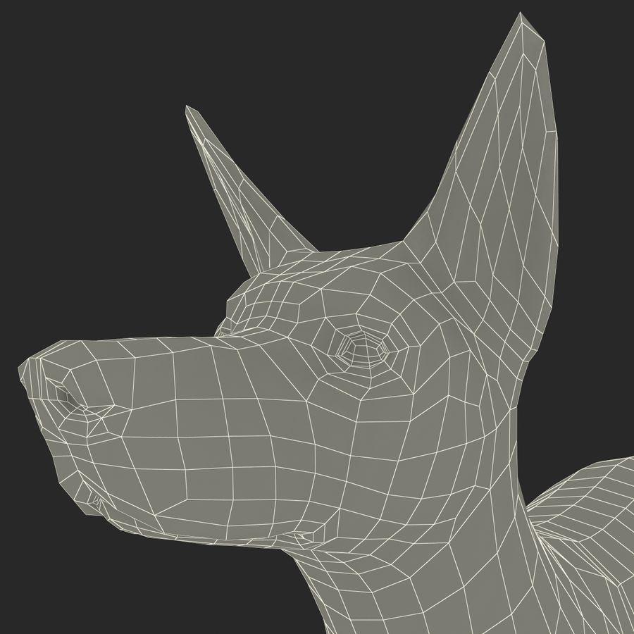 Meksikalı Tüysüz Köpek Xoloitzcuintli royalty-free 3d model - Preview no. 16