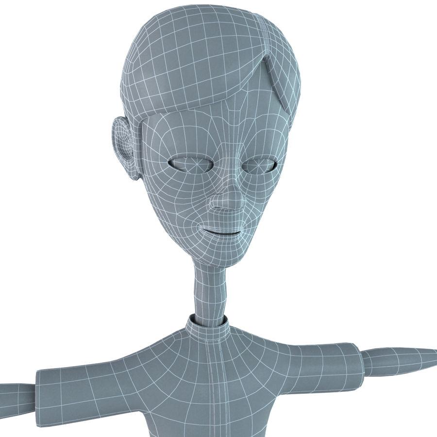 Cartoon Boy royalty-free 3d model - Preview no. 12
