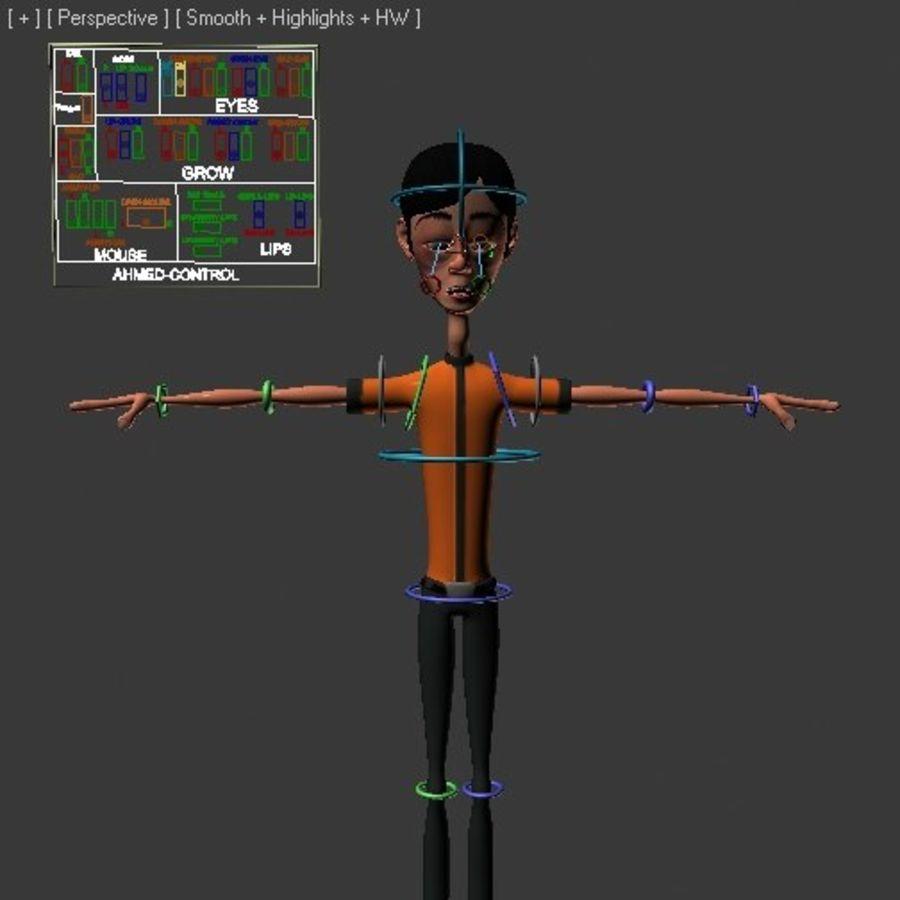Cartoon Boy royalty-free 3d model - Preview no. 10