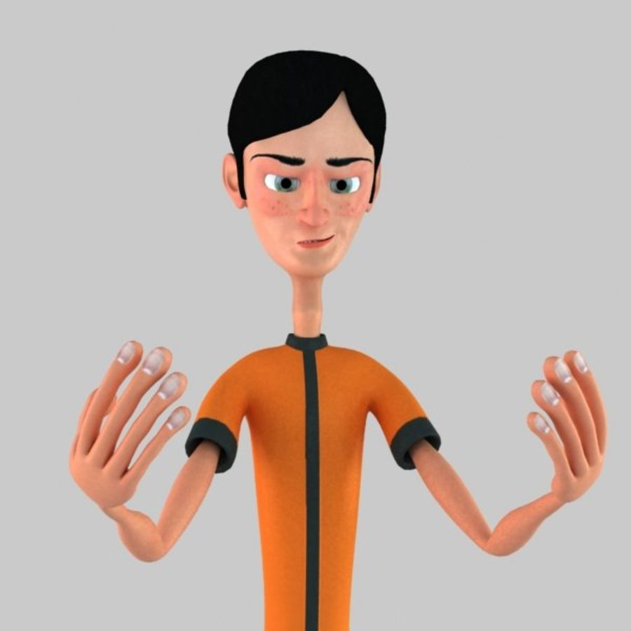 Cartoon Boy royalty-free 3d model - Preview no. 4