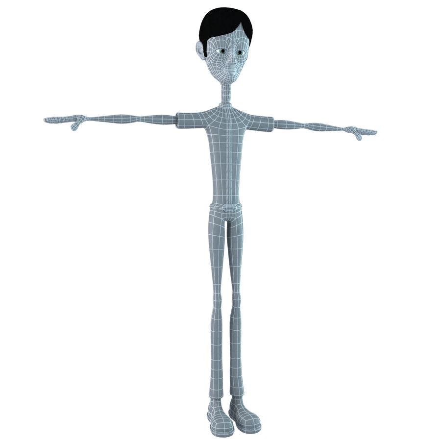 Cartoon Boy royalty-free 3d model - Preview no. 11