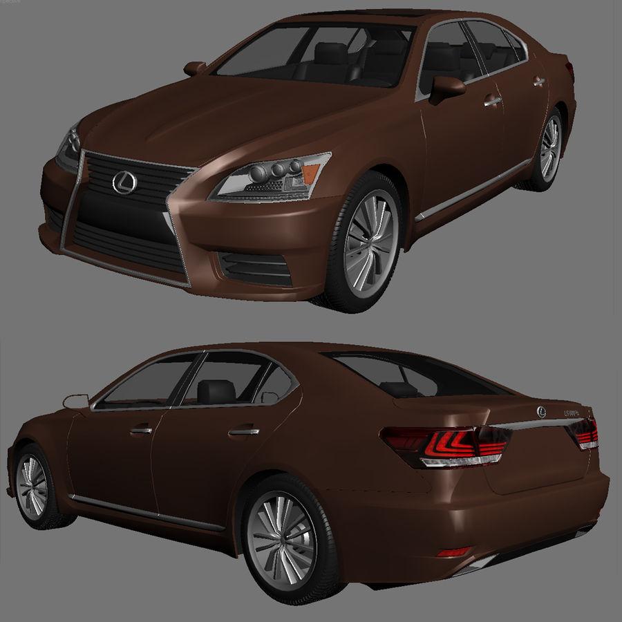 レクサスLS600 2013 royalty-free 3d model - Preview no. 1