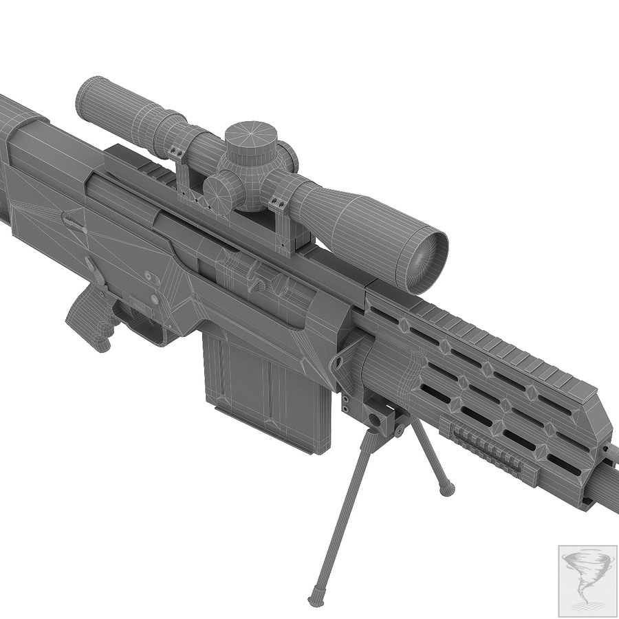 AS50 Precisión Internacional royalty-free modelo 3d - Preview no. 26