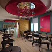 ワインバーとレストランのシーン 3d model