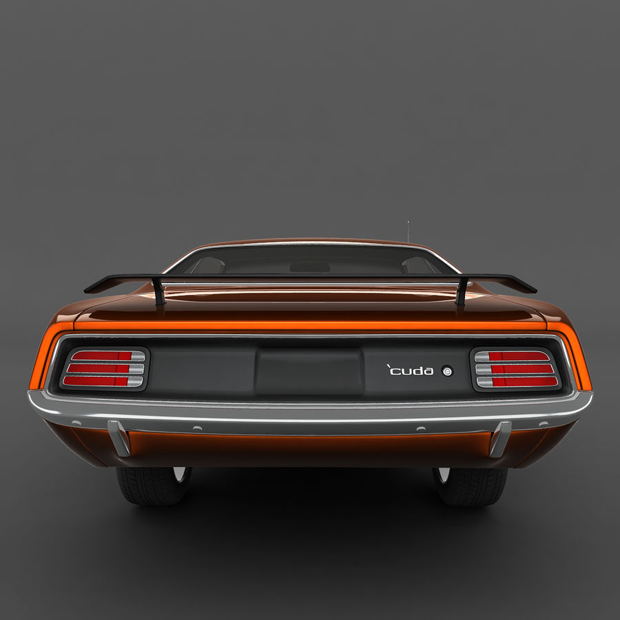 Plymouth Barracuda 70 royalty-free 3d model - Preview no. 5