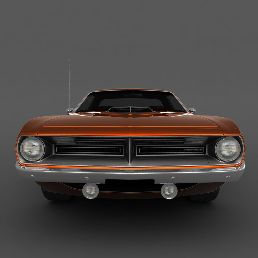 Plymouth Barracuda 70 royalty-free 3d model - Preview no. 4
