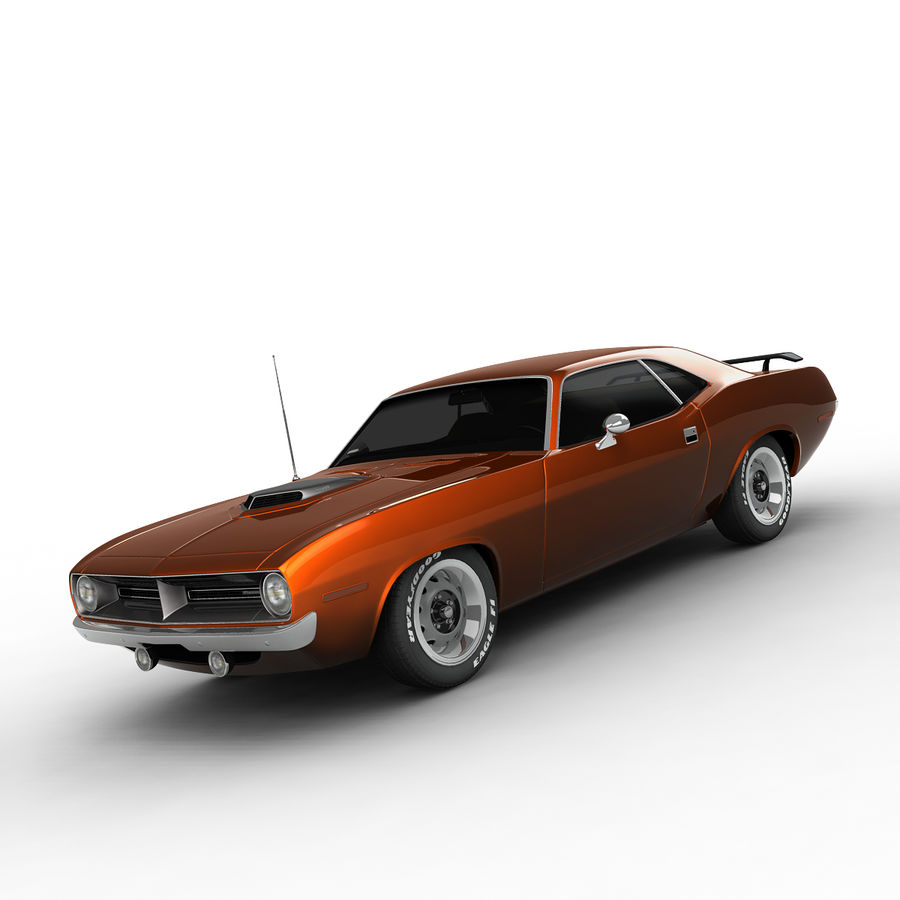 Plymouth Barracuda 70 royalty-free 3d model - Preview no. 7